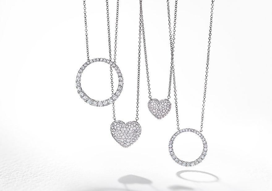 Classic Diamond Jewelry And Necklaces Pendants