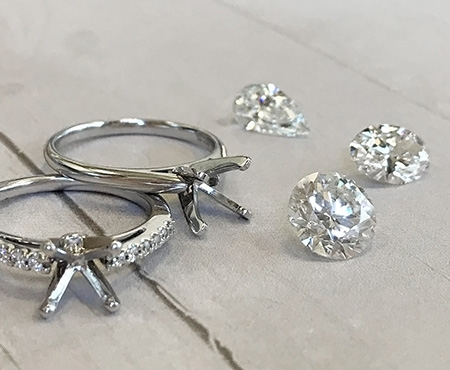 Ring Bands and Diamonds