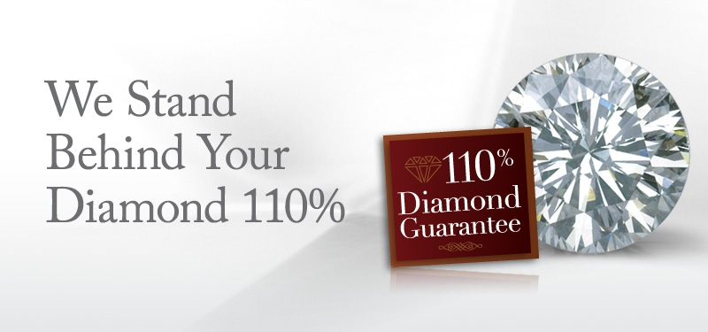 We Stand Behind Your Diamond 110%