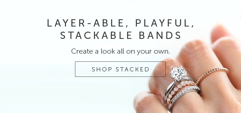 Shop for Women's Stacked Wedding Rings
