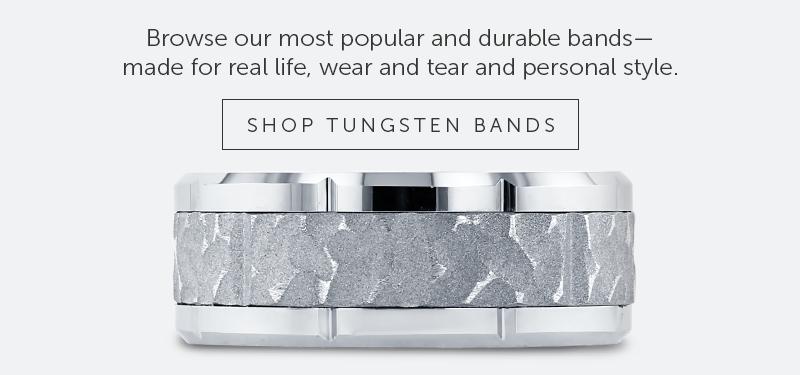 Shop for Men's Wedding Rings in Tungsten Carbide