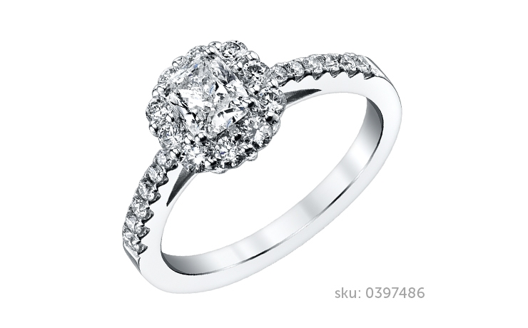 cushion cut engagement ring - Types Of Wedding Rings