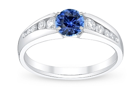 Ring With Blue Sapphire Gemstone