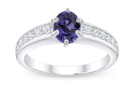 Ring With Purple Sapphire Gemstone
