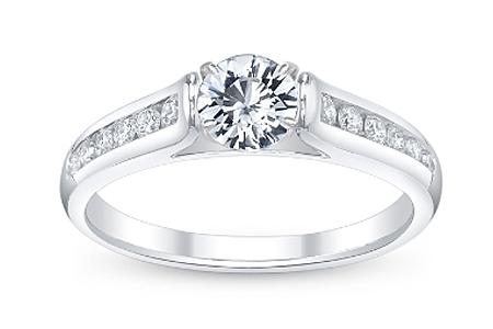 Ring White Sapphire Gemstone