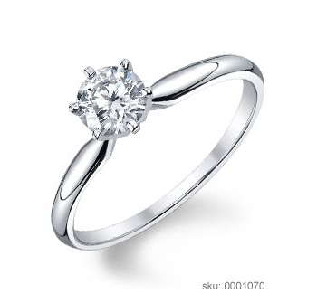 Engagement Ring Metals - White Gold