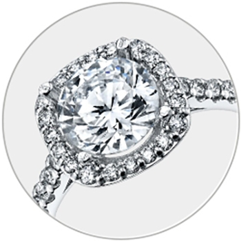 HALO DESIGN Engagement Rings
