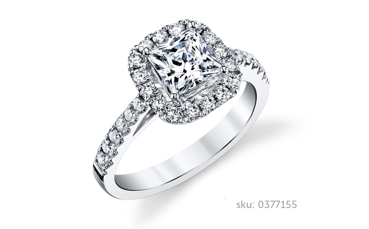 halo ring design - Types Of Wedding Rings