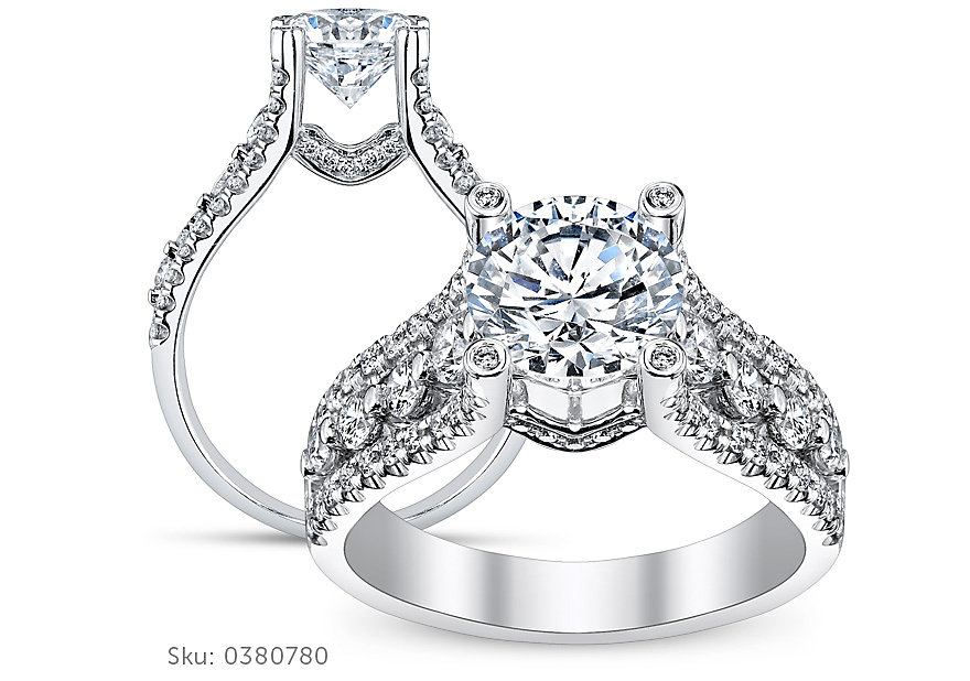four ring bow engagement rings the robbins for brother brothers heart holidays diamond sku perfect radiant from