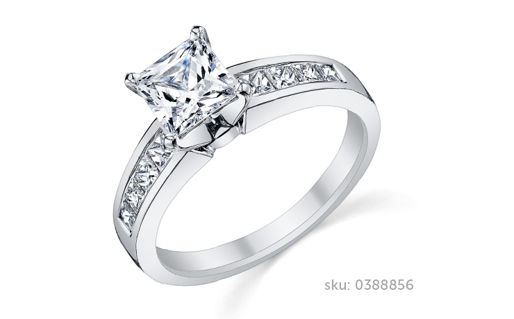 princess cut engagement ring - Types Of Wedding Rings