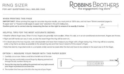 Wedding Ring Sizing Robbins Brothers The Engagement Ring Store