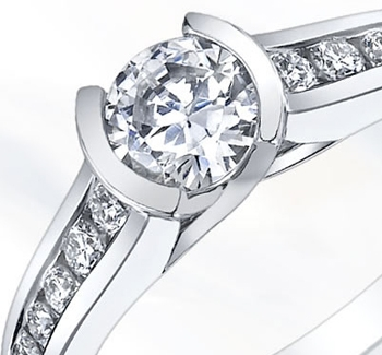 Engagement Ring With bezel Setting