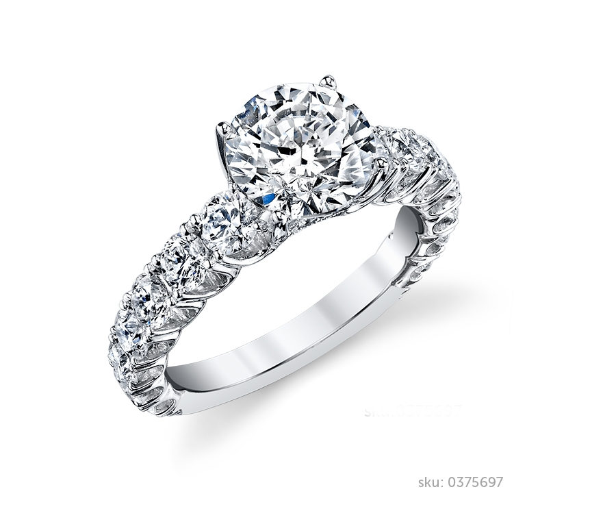 side stone ring - Stone Wedding Rings
