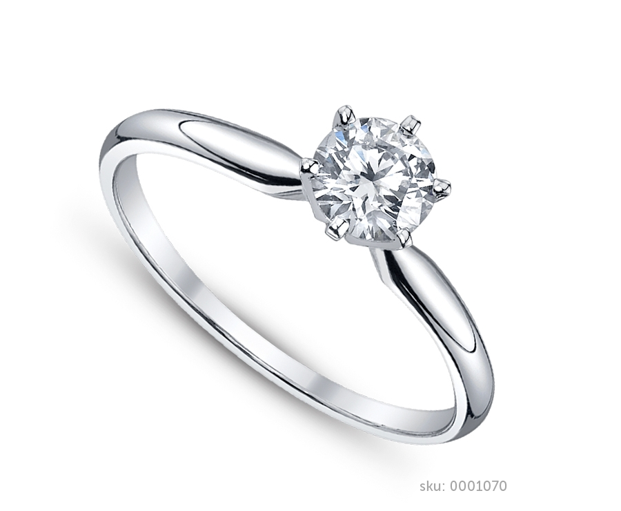 the most classic of all engagement rings - Solitaire Wedding Rings