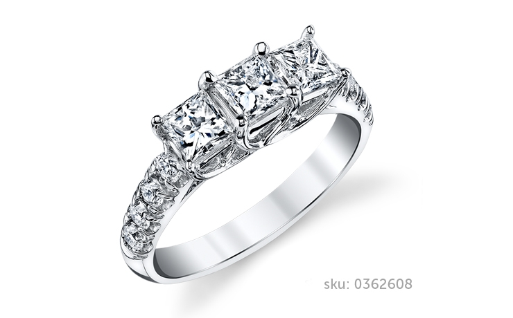 three stone ring - Types Of Wedding Rings