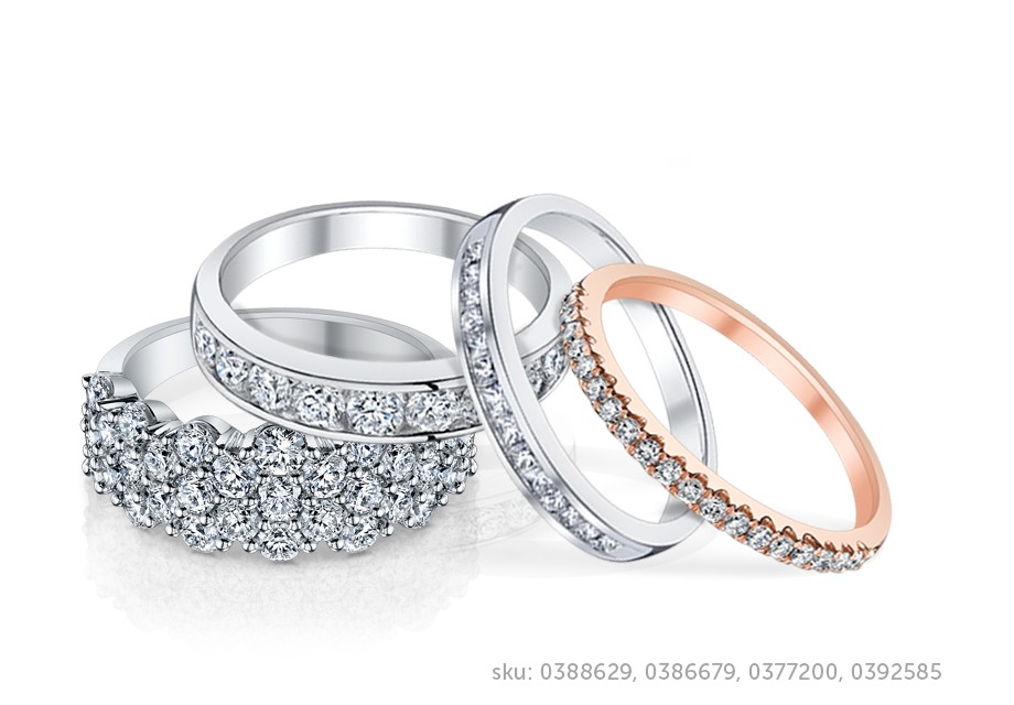 curved contemporary bands jewellery gold for her ladies band gabriel wedding white engagement diamond