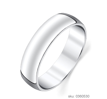 Half Round Wedding Ring