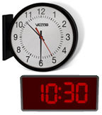 IP PoE 4 Digit 4 Inch Clock,Double Sided