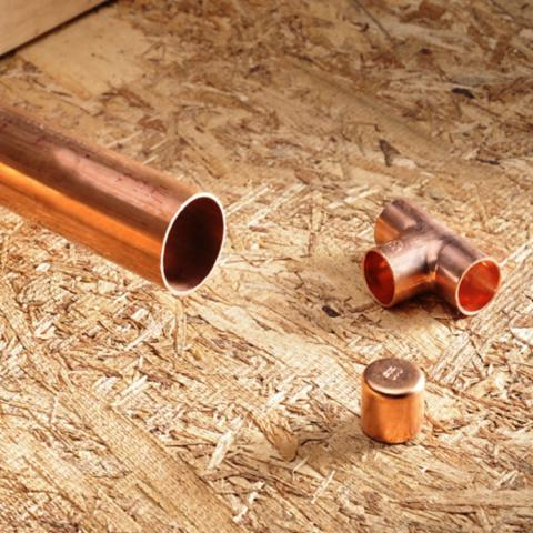 Fitting de cobre y bronce