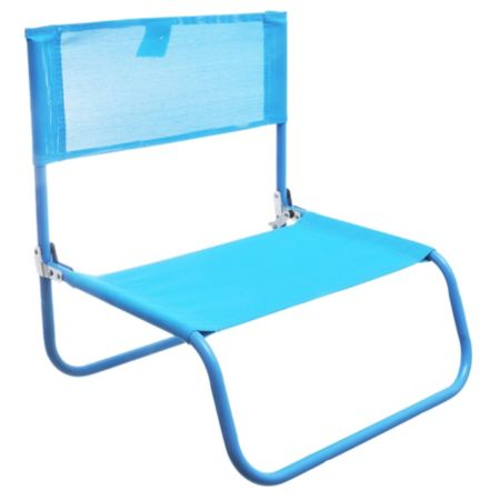 Silla plegable Beach text azul