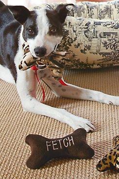 Bag of Bones plush dog toys