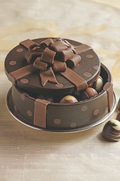 Round Polka Dot Chocolate Box