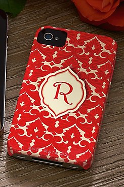 Red Monogrammed iPhone Case