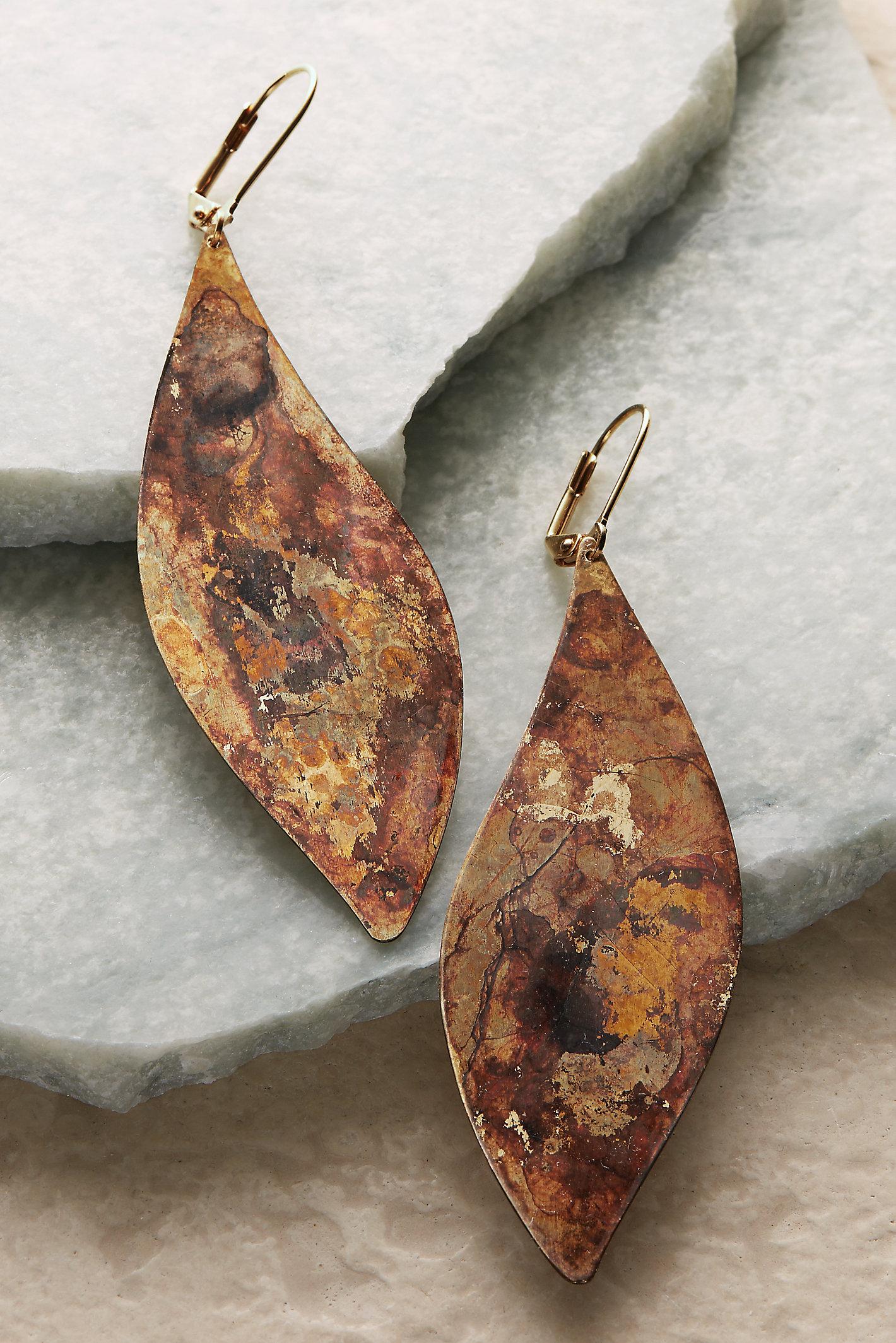 Wd-oxidized Inca Earrings