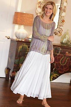 Crinkle Gauze Skirt