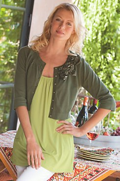 Garden Cardigan with Soft Drapey Tank