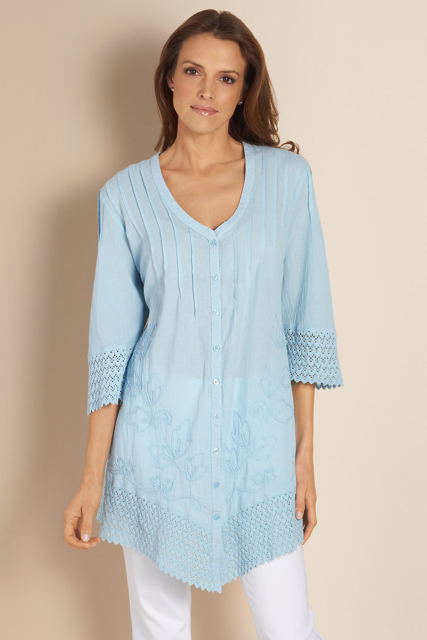 Petite Grenada Gauze Shirt