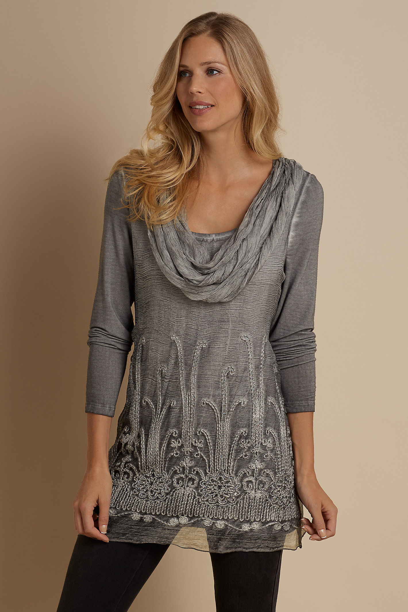 Silk Beaux Arts Tunic And Cami
