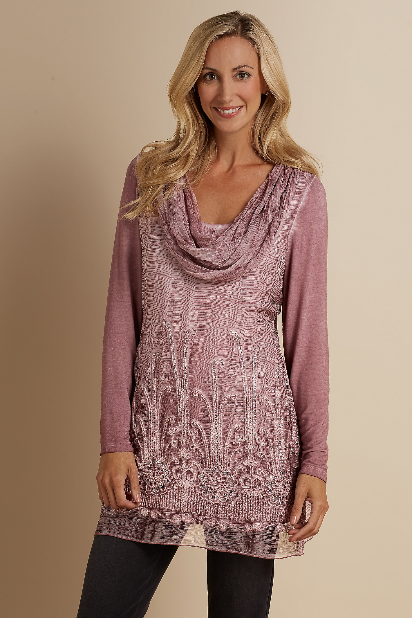 Petite Silk Beaux Arts Tunic And Cami