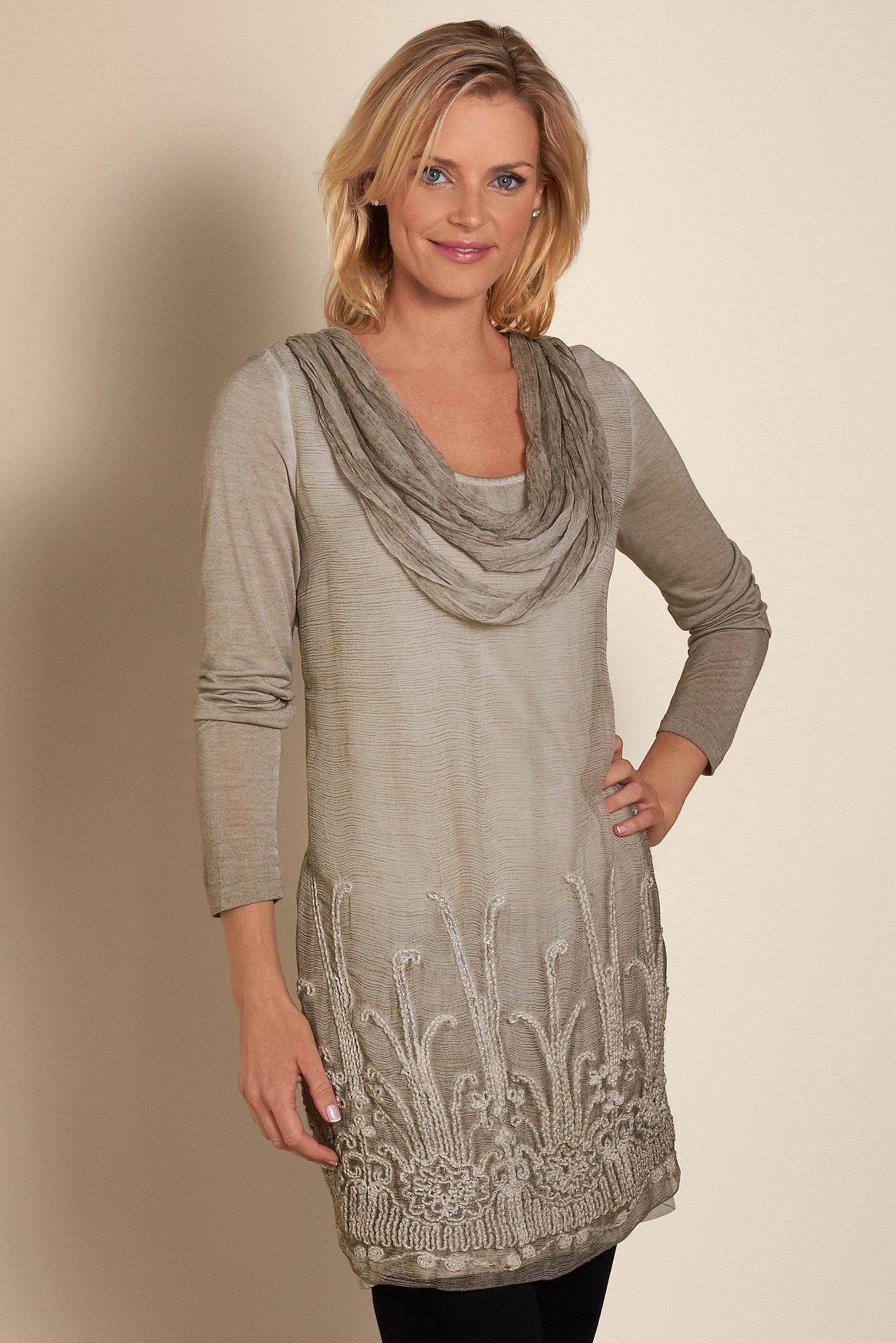 Women Silk Beaux Arts Tunic And Cami
