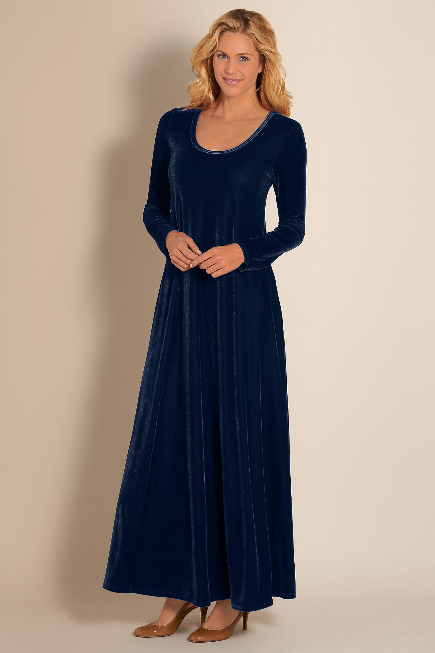 Petite Santiago Stretch Velvet Dress