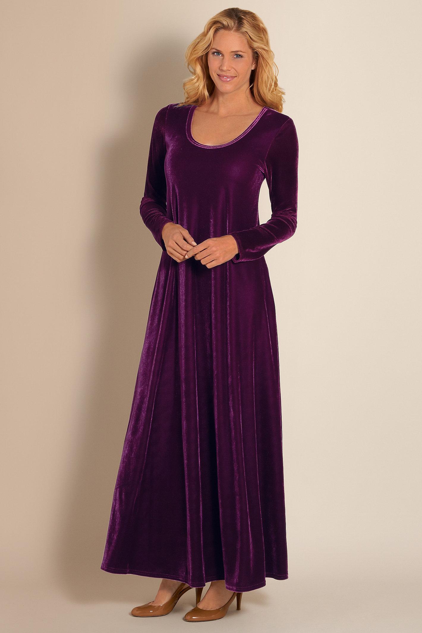 Women Santiago Stretch Velvet Dress