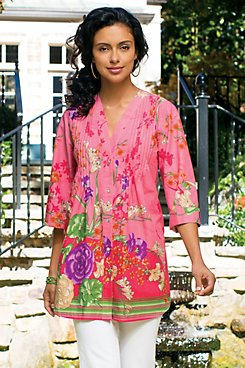 Spring Flowers Tunic Top