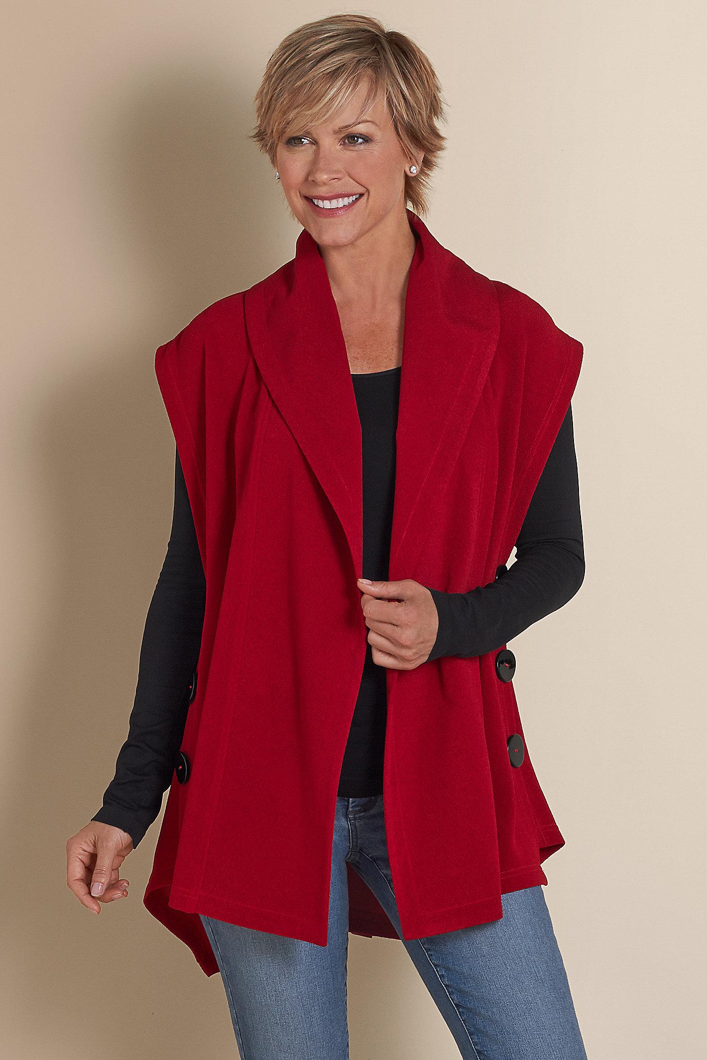 Women Mesa Button Vest