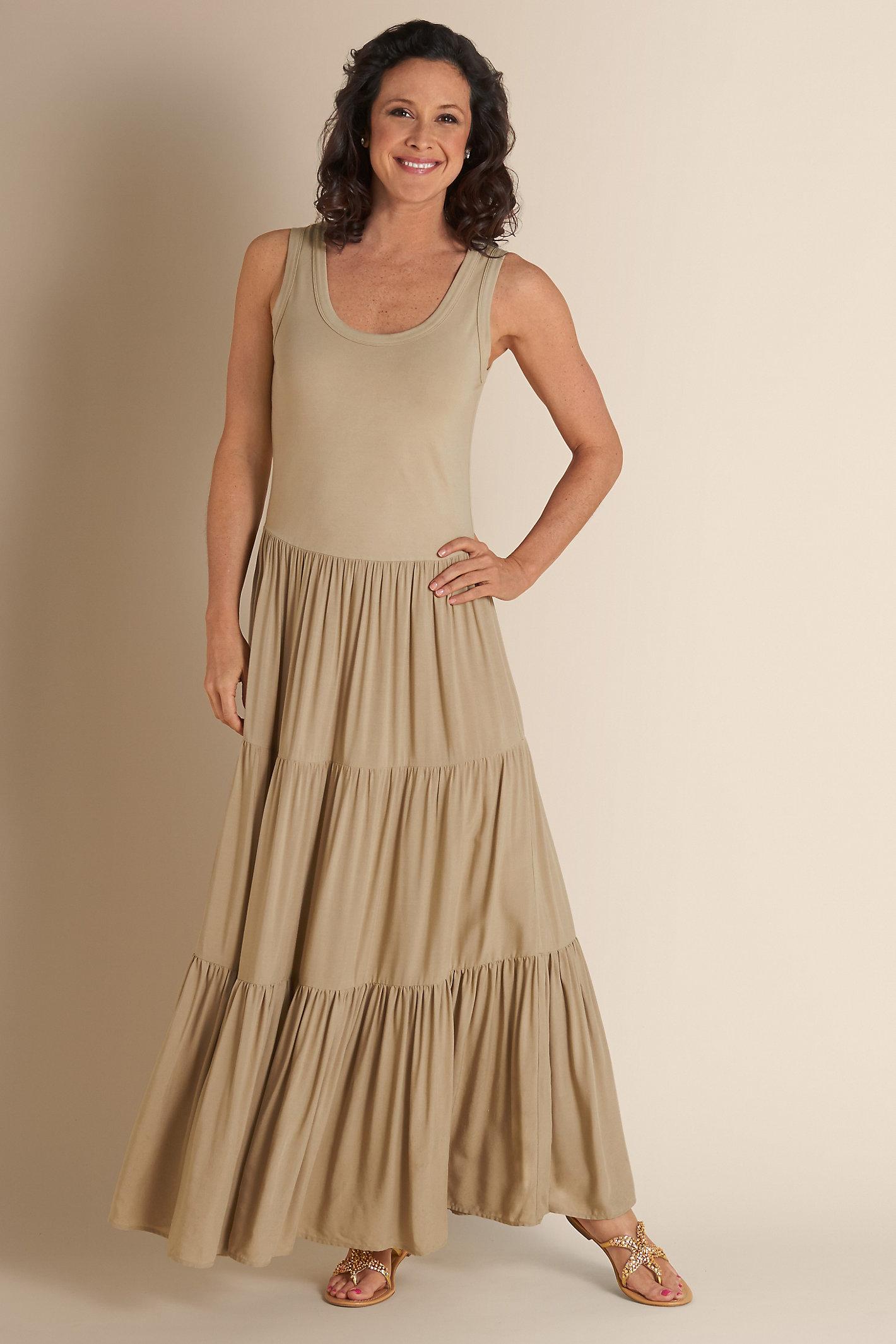 Petite Slimming Maxi Dress