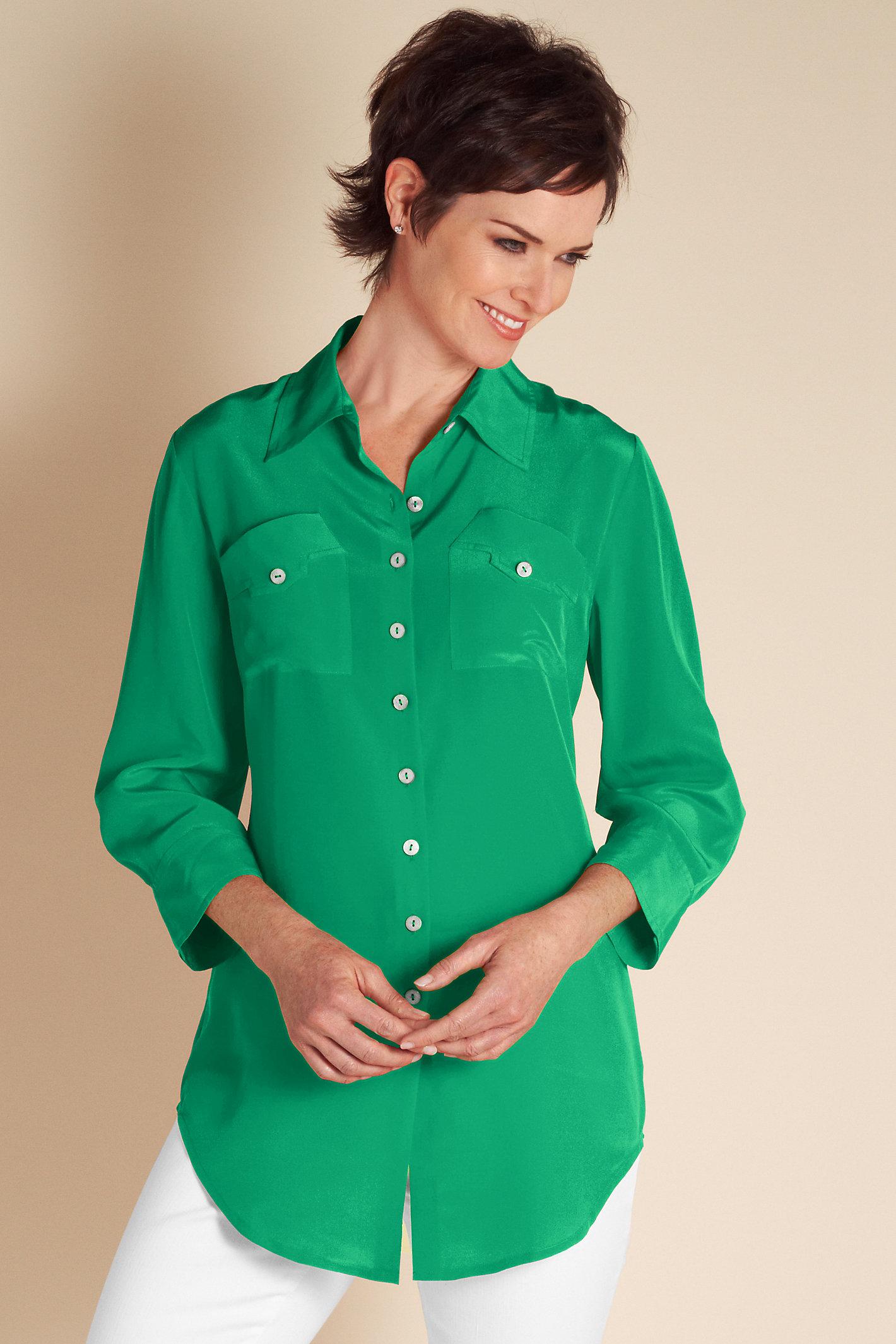 Women Silk Shapely Shirt