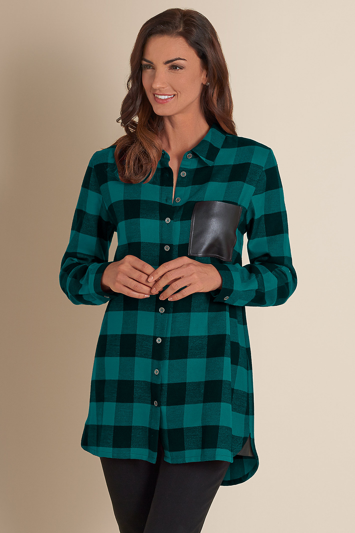 Women Posh Plaid Shirt