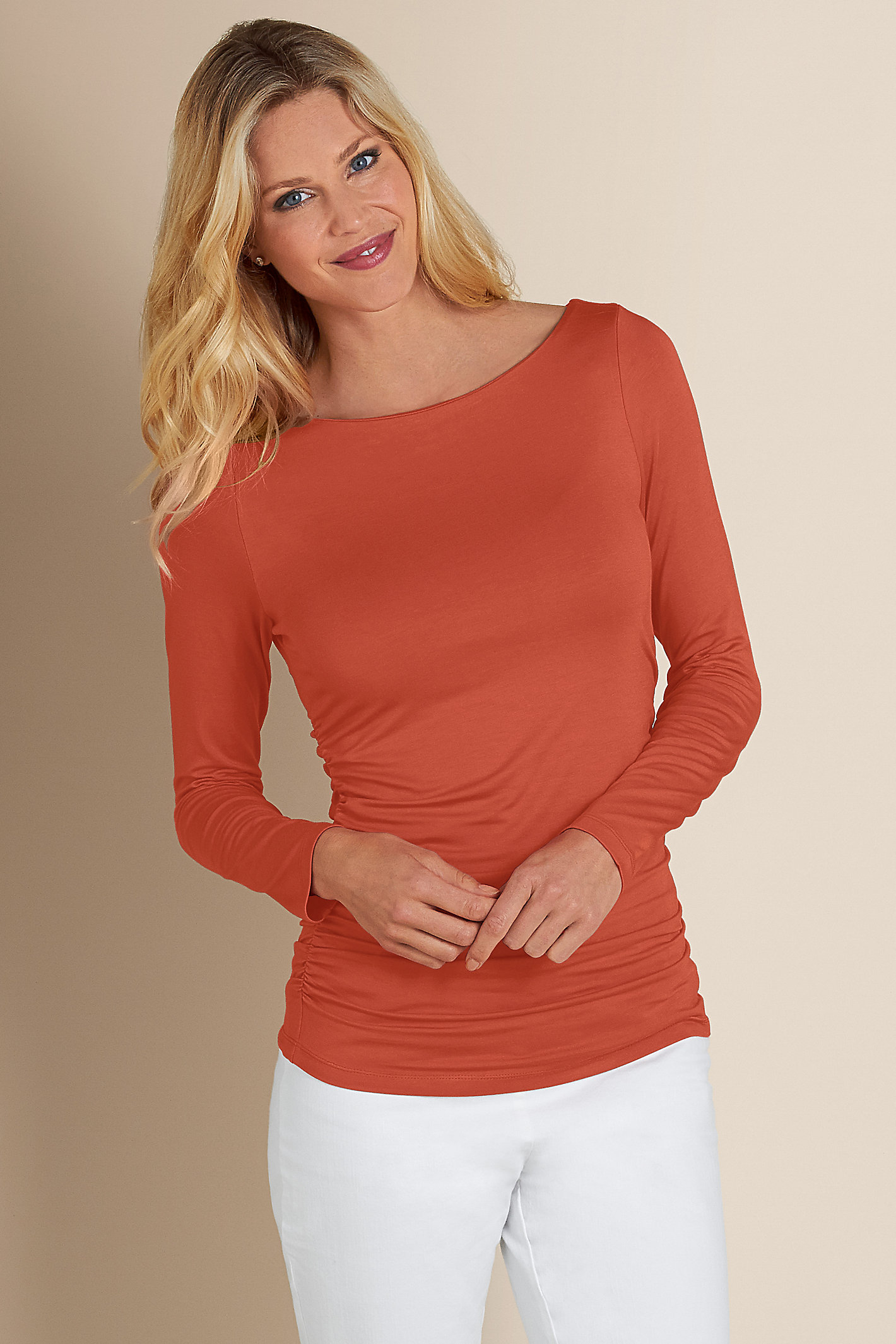 Women Complementary Ruched Top