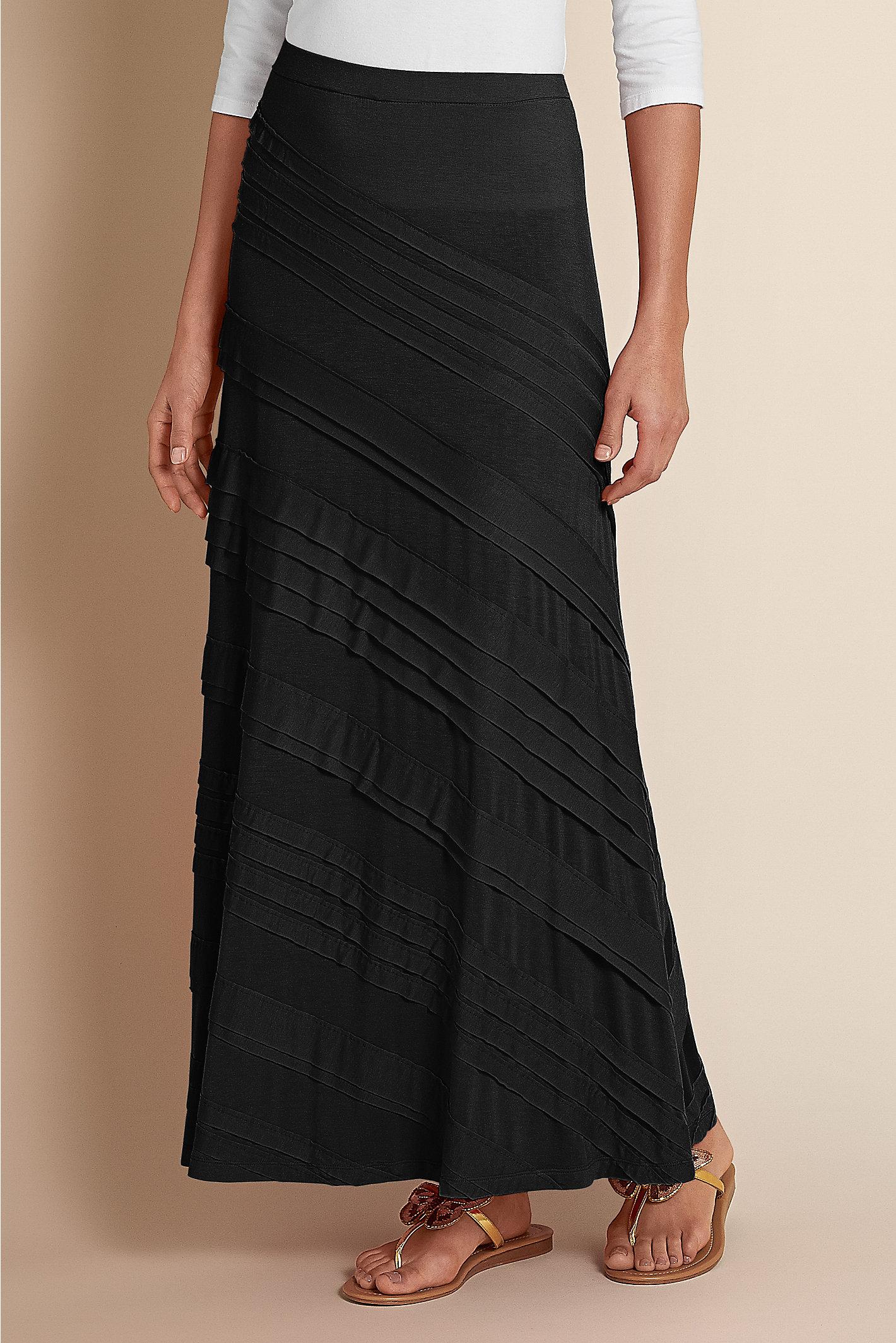 Tall Knit Tiered Skirt