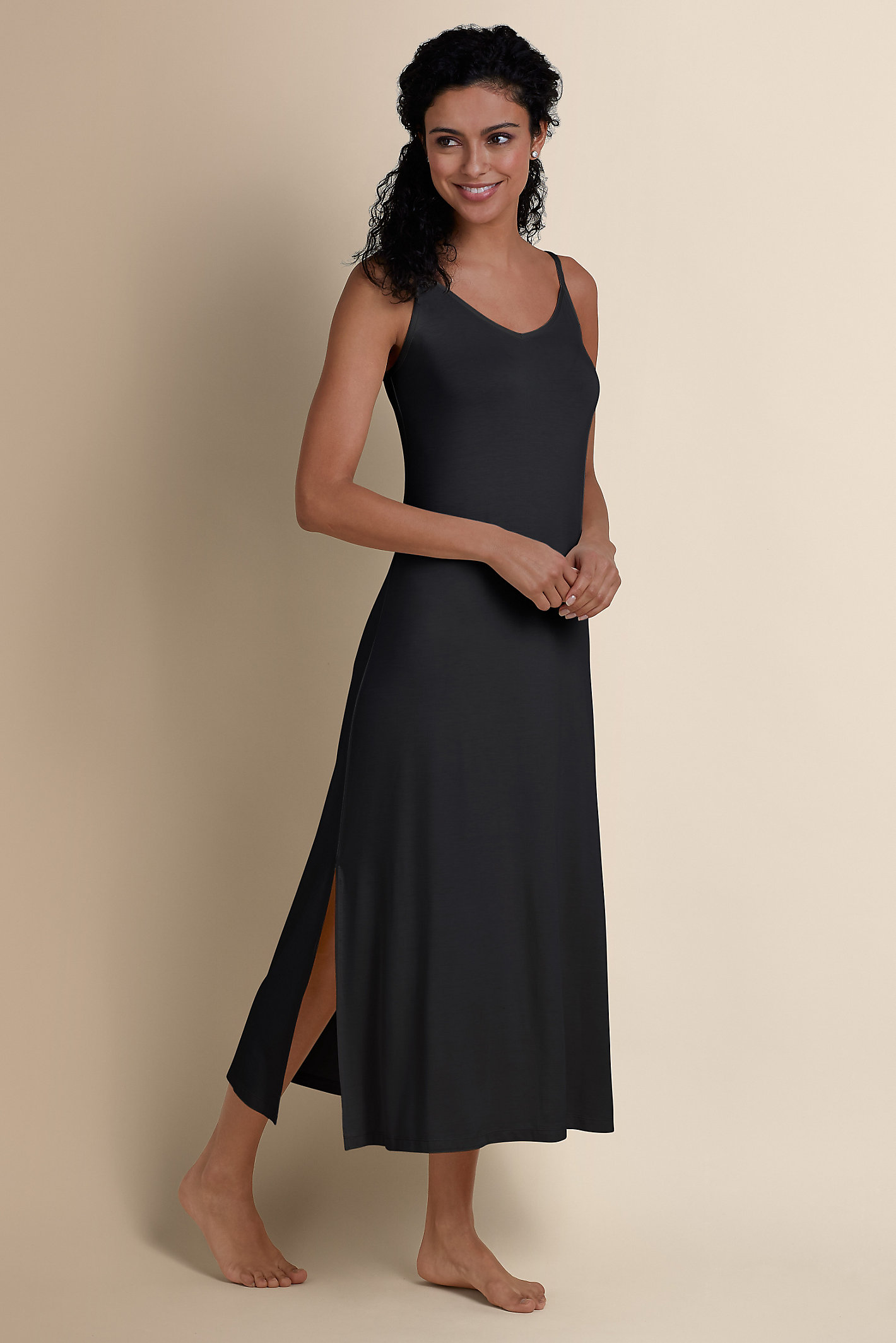 Women Caftan Knit Slip