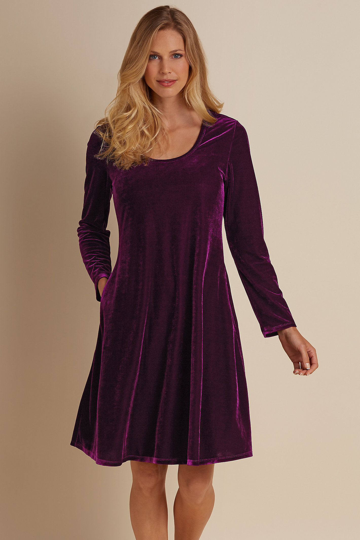 Short Santiago Stretch Velvet Dress