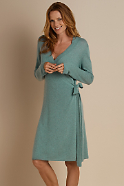 Cashmere Robe - TEAL HEATHER