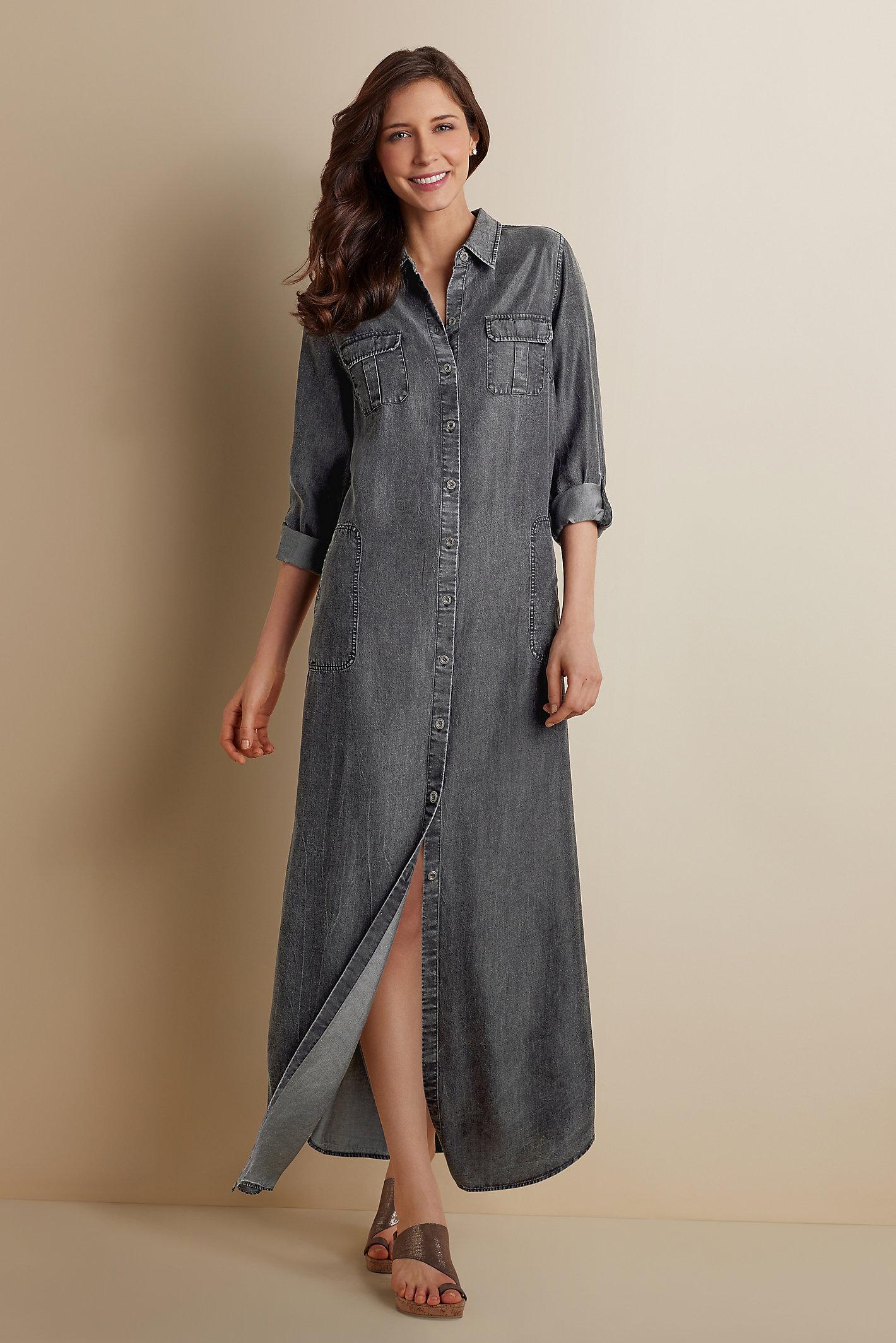 Women Tencel Maxi Dress