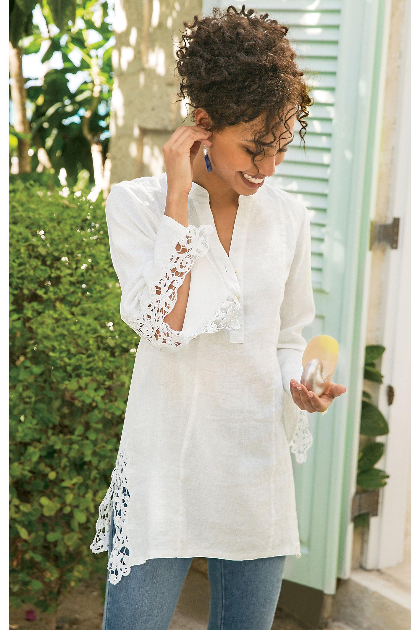 Women Meadowsweet Linen Tunic