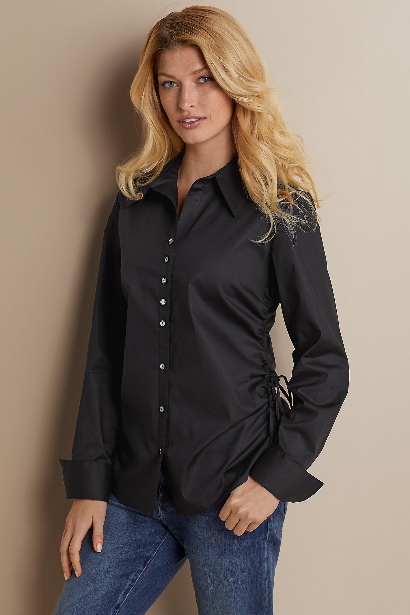 PETITE CARRIE CINCHED SHIRT