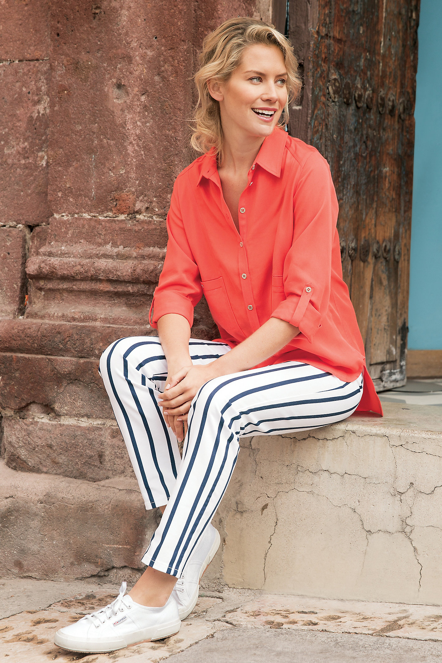 Tl Striped Straight Leg Pants